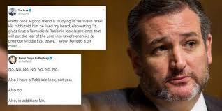 """Ted Cruz dit qu'un rabbin a prédit que sa barbe """" favoriserait la paix au Moyen-Orient """""""