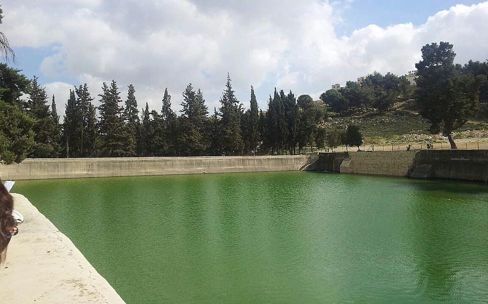 Une des piscines de Salomon en Cisjordanie, 2013 (Crédit : Roman Klozweg / Wikimedia