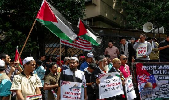 Des manifestants pro-palestiniens en Malaisie