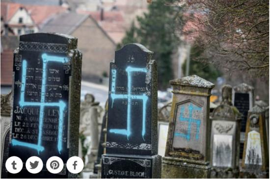 80 tombes profanées en France