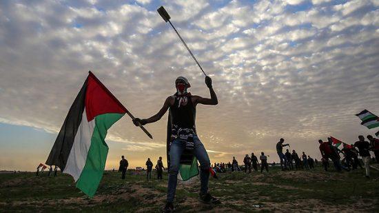 Emeutes palestiniennes à la frontière de Gaza (Photo: AFP)