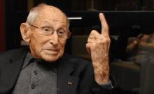 Georges Loinger à Strasbourg en octobre 2014. Il a alors 104 ans. Photo DNA - Jean-Christophe Dorn