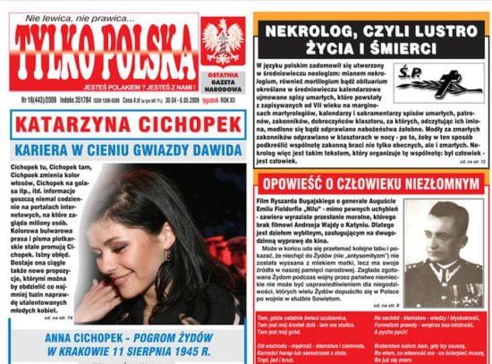 L'hebdomadaire de langue polonaise Tylko Polska