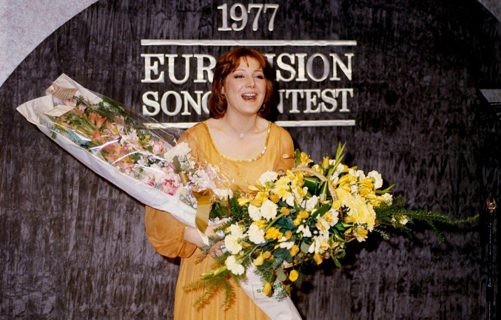 Eurovision 1977 Marie Myriam (France) photo: Derek Cattani/ Schutterst/SIPA