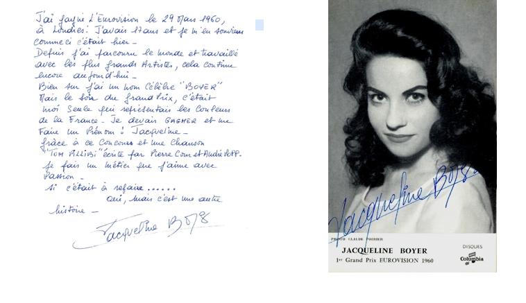 Jacqueline Boyer 1960 Eurovision