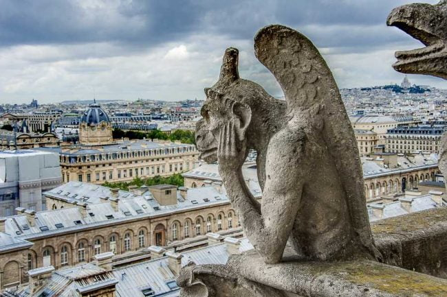 Le désarroi des gargouilles de Notre Dame de Paris