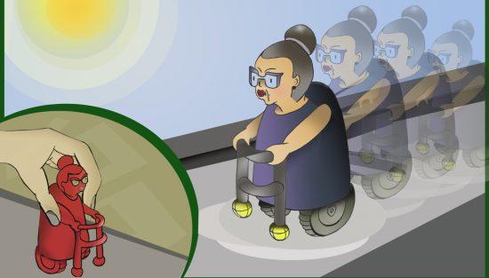 Le concept de jouet Kinder «Grand-mère sur roues» de Shanni Levy.