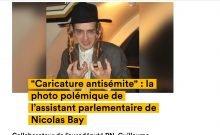 Guillaume Pradoura, assistant du chef de l'Assemblée nationale, Nicolas Bay, a pris la pose en 2013 alors qu'il portait un costume juif haredi.