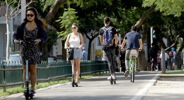 Micro-mobilité à Tel Aviv. Photo: Amit Sha'al