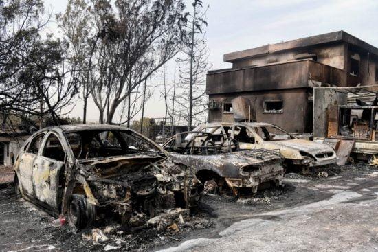 Le village de Mevo Modiin dévasté par les incendies