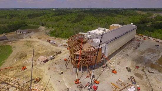 L'arche de Noé en construction dans l'Etat du Kentucky