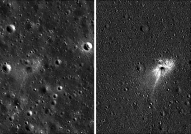 La NASA publie les premières photos du crash de la sonde israélienne Beresheet