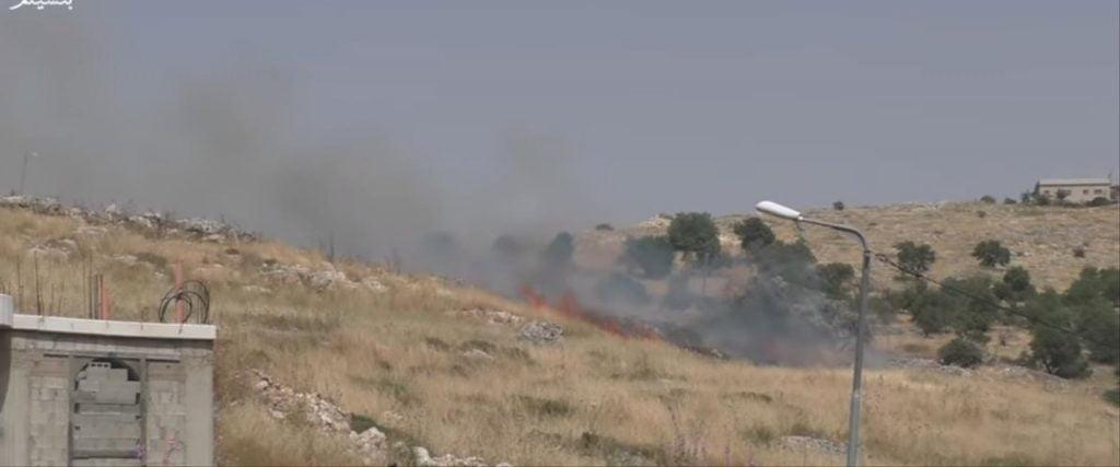 des feux d'origine criminelle allumé par des israéliens dans des villages palestiniens