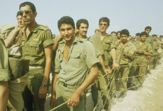 Soldats revenant du Liban, 1982, photo: personnel de l'IPPA, collection Dan Hadani