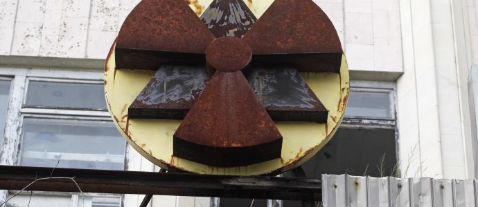 Une nouvelle série HBO décrit la catastrophe nucléaire de Tchernobyl et ses conséquences. Cette image montre un bâtiment situé dans la zone d'exclusion de Tchernobyl dans la ville abandonnée de Pripyat, en Ukraine