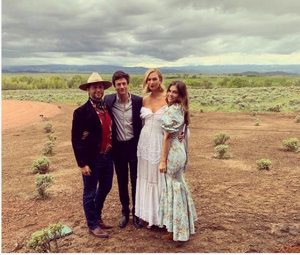 Joshua Kushner et Karlie Kloss ont documenté leur deuxième mariage sur Instagram. (Derek Blasberg / Instagram)
