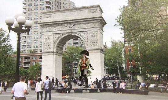 Mixed Place pourrait mettre des personnages historiques sous le point de vue d'un touriste. Photo: courtoisie