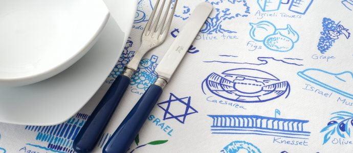 Nappe israel story sababe.com art juif judaica, cadeau juif