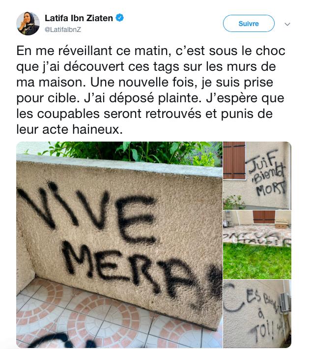Tags antisémites sur la maison d'une des mères des victimes de merah