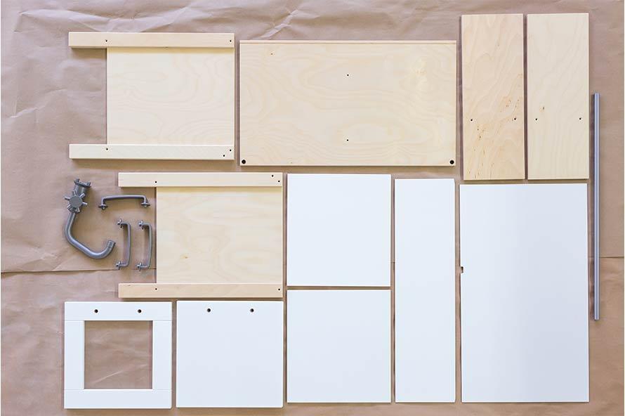 Ikea DUKTIG la cuisine démontée avant d'être personnalisée