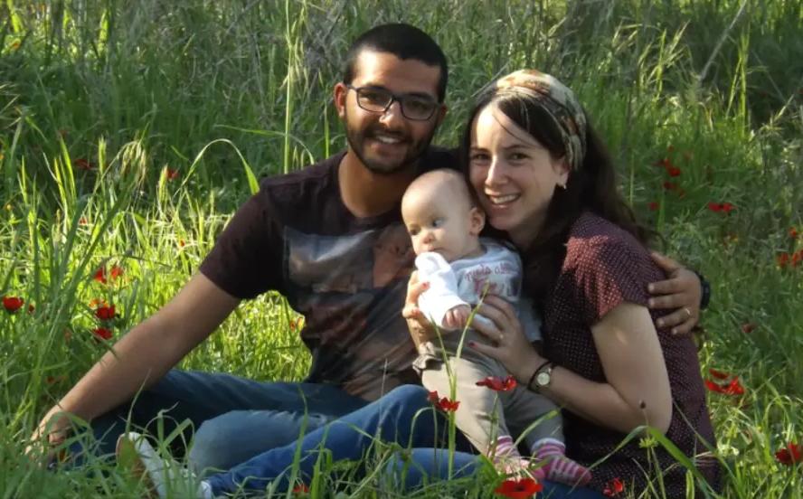 """Yanai Weissman HY """"D, son épouse Yael et leur fille"""