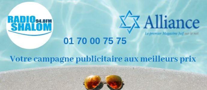 Radio Shalom et Alliance votre pub pour la communauté juive en France et en Israël