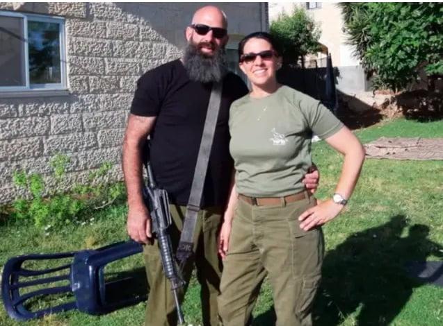 Maia et son mari réservistes de Tsahal armée israèlienne