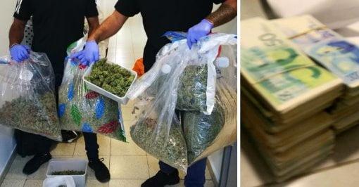 Un résident de Bat Yam a été arrêté avec 10 kg de marijuana et 200 000 shekels.