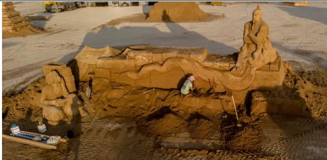Genie de Aladin sculpture de sable