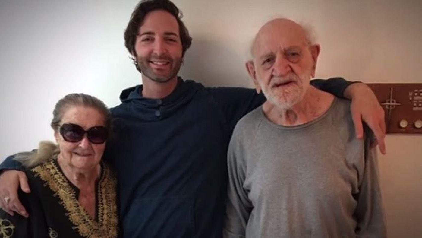 Rella Herman, âgée de 93 ans, et Leonard Herman, de 91 ans, et leur petit fils Micah
