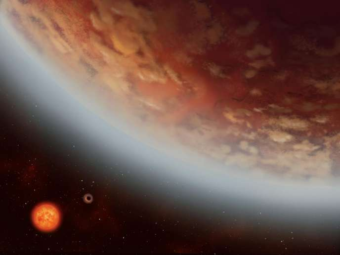 IMAGE: K2-18B AND ITS NEIGHBOUR, NEWLY DISCOVERED K2-18C, ORBIT THE RED-DWARF STAR K2-18 LOCATAED 111 LIGHT YEARS AWAY IN THE CONSTELLATION LEO. view more   CREDIT: ALEX BOERSMA Image d'artiste montrant l'exoplante K2-18 B et sa voisine rŽcemment dŽcouverte K2-18C,en orbite autour de l'Žtoile naine rouge K2-18 , ˆ 111 annŽes lumires de la terre, dans la galaxie du lion.  © ALEX BOERSMA