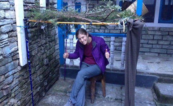 Tamar Ariel lors du voyage au Népal