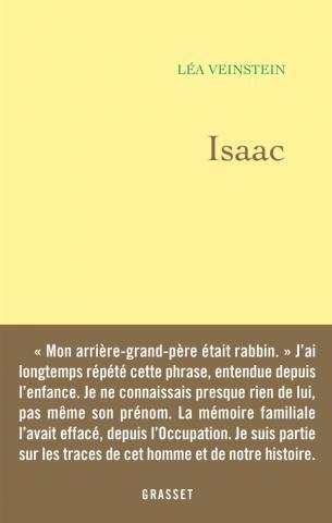 Isaac de Léa Veinstein publié chez Grasset en février 2019.