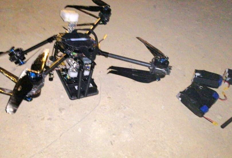 L'intelligence est le nom de cette guerre. L'un des drones qui s'est écrasé à Beyrouth // Photo: AFP