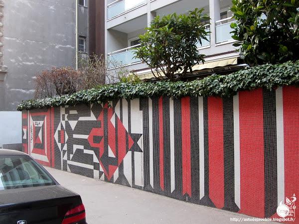 façade Ginsberg 59 – 65 Boulevard Lannes ou au 6 rue du Général Carmon à Paris