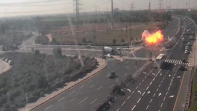 Explosion d'une roquette sur une autoroute en Israël
