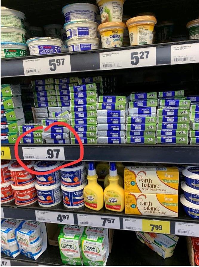 beurre israélien vendu au Canada moins cher