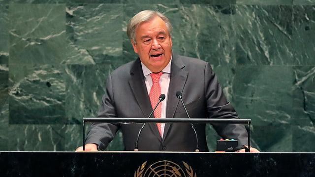 Le secrétaire général de l'ONU, Antonio Guterresh