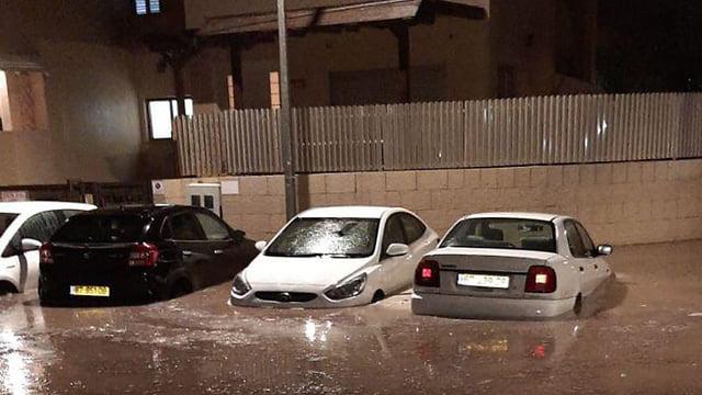 inondation et foudre en israel