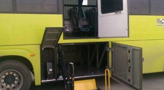 coincé dans la soute à bagage d'un bus israélien,