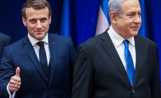Emmanuel Macron à Jérusalem avec Benjamin Natanyhou