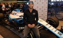 """Roy Nissany, 25 ans, se dit tellement heureux que les fans de Formule 1 """"vont maintenant découvrir Israël à travers la piste de course automobile"""". (Shauli Lendner)"""