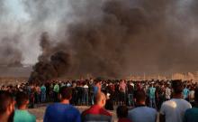 Manifestation des Palestiniens contre le forum de l'Holocauste à Jérusalem