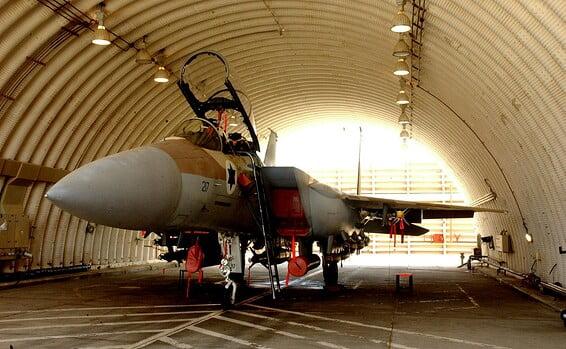 les avions de chasse de l'armée de l'air israélienne touchés par les inondations