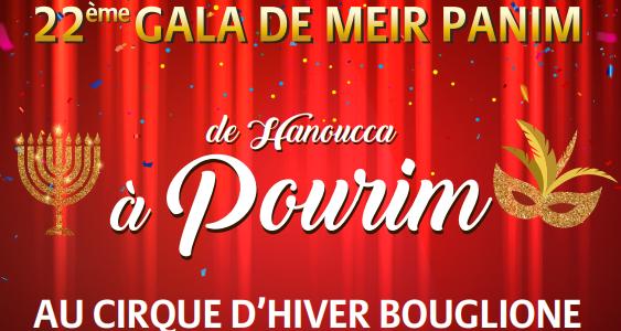 Gala le 8 mars de Meïr Panim au cirque d'Hiver  Bouglione à Paris