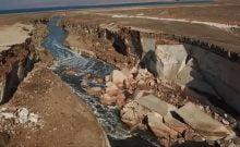 fleuve à la mer morte en israel
