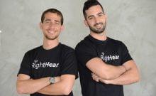 Les fondateurs de RightHear Idan Meir, à gauche, et Gil Elgrably. Courtoisie