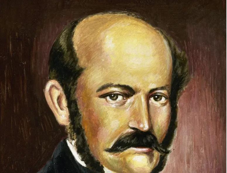 Portrait de Ignaz Philip Semmelweis (Semmelweiss), obstetricien hongrois (1818-1865). Peinture de Francisco Fonollosa. © AFP / ©PrismaArchivo/Leemage