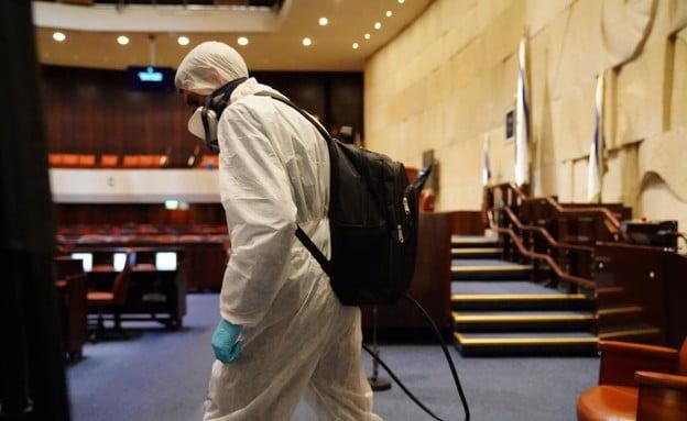 knesset désinfectée coronavirus en israel