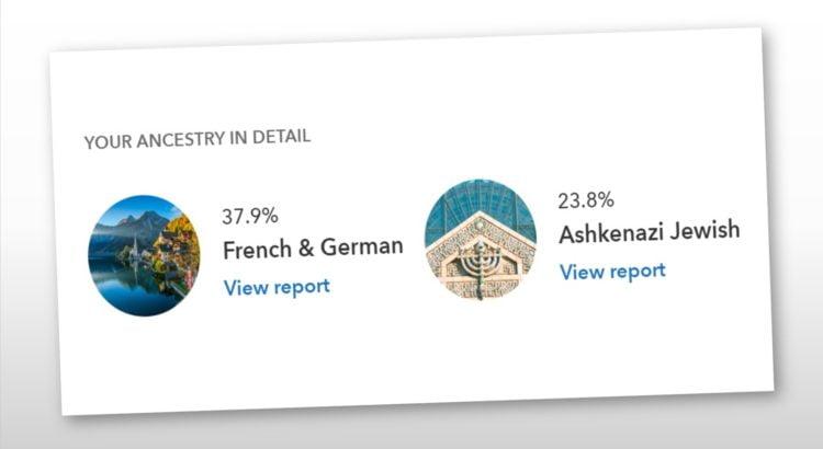 mon héritage ashkenaze 25% de mon ADN est juif